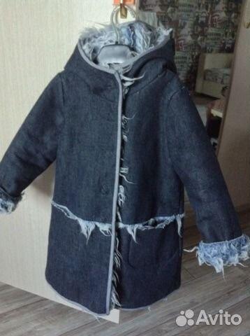 Сшить пальто из джинсовой ткани 91