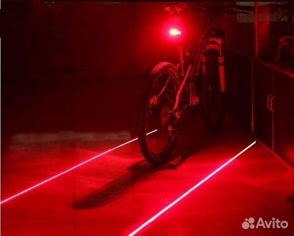 89061815336 Велосипедный задний фонарь с лазерным габаритом
