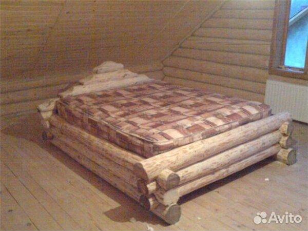 Кровать из срубов своими руками