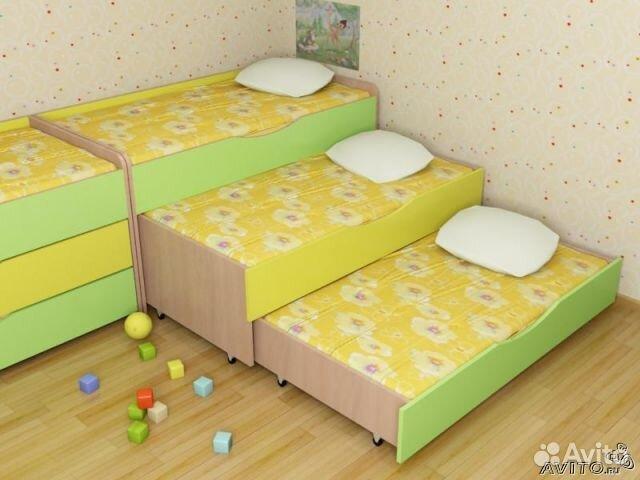 Трёхъярусная выдвижная кровать 17