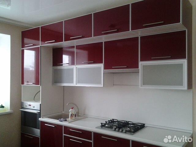 Дизайн мебели на кухне до потолка