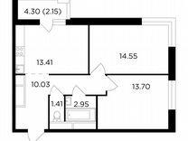2-к. квартира, 58,2 м², 19/25 эт.