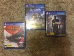 Horizon Zero Dawn, Uncharted 4, God of War