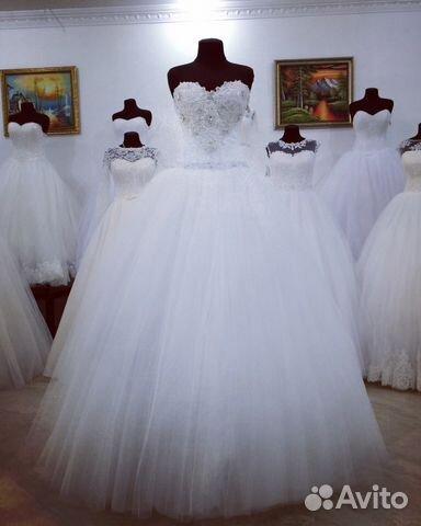 Платье свадебное пышное со стразами