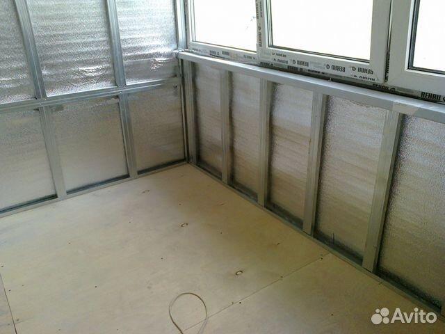 Обшивка с утеплением балкона 2940*990 купить в санкт-петербу.