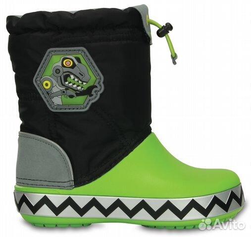 Сапоги Kids' CrocsLights LodgePoint RoboSaur Boot— фотография №1