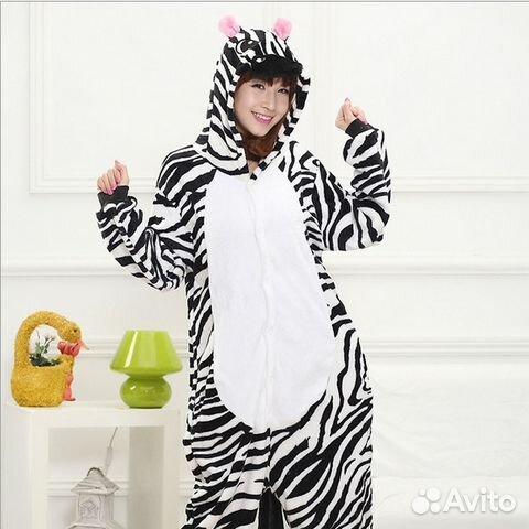 Кигуруми костюм (пижама) Зебра размер S  48dc3736d1686
