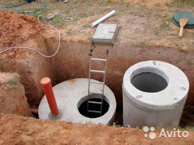 Drain well from concrete rings / installation