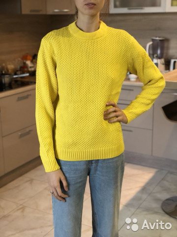 свитер вязаный желтый Festimaru мониторинг объявлений