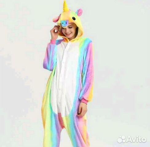 Пижама кигуруми Единорог (радуга) M-165 88 купить в Саратовской ... 31e87e542df06