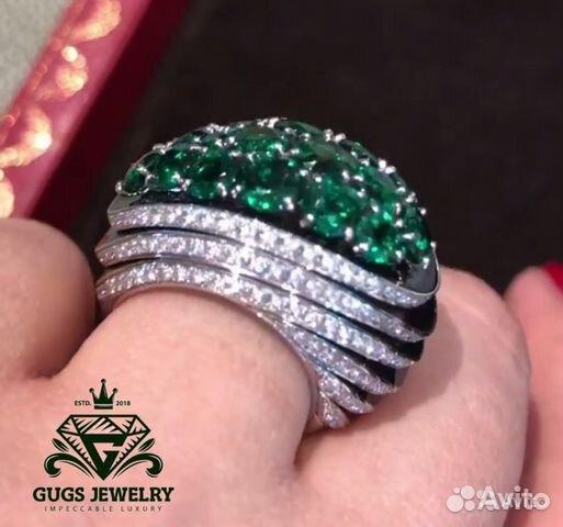 a118a8842823 Роскошное кольцо Cartier с бриллиантами и изумруда купить в Москве ...