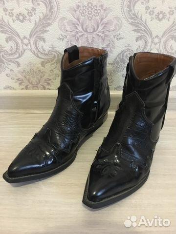 31e7ec47 Кожаные ковбойские ботинки Zara | Festima.Ru - Мониторинг объявлений
