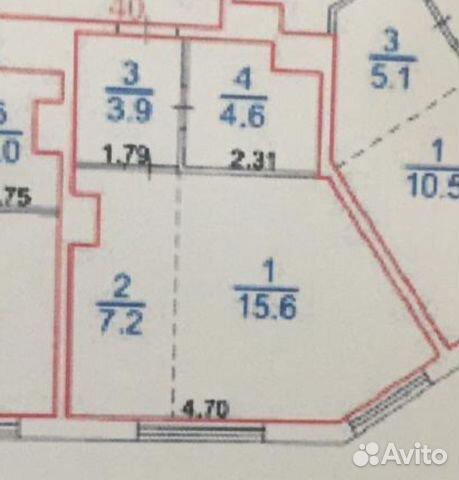 Продается двухкомнатная квартира за 6 000 000 рублей. посёлок Коммунарка, Москва, Бачуринская улица, 13.