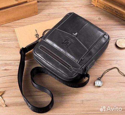 0d616517c943 Мужская сумка через плечо из натуральной кожи купить в Республике ...