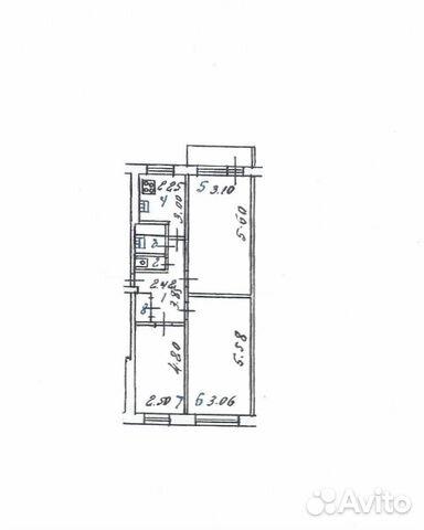 Продается трехкомнатная квартира за 2 200 000 рублей. г Курск, ул Союзная, д 51А.