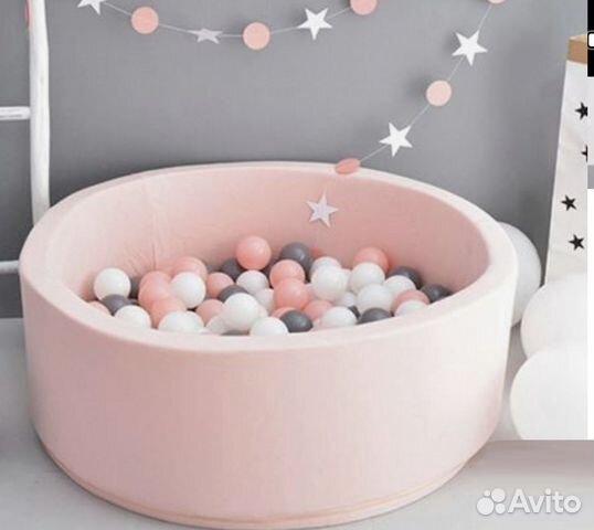 Сухой бассейн поролоновый, розовый