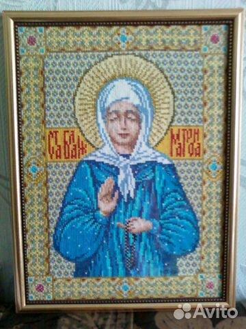Вышивка икон крестом матрона московская