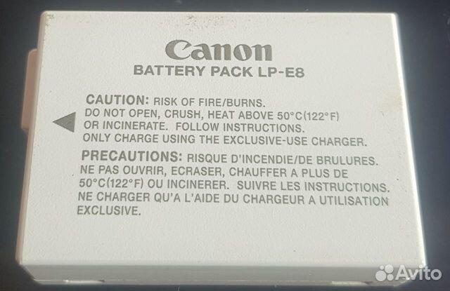 Аккумулятор Canon EOS1100D, 550D-700d 89085901437 купить 3