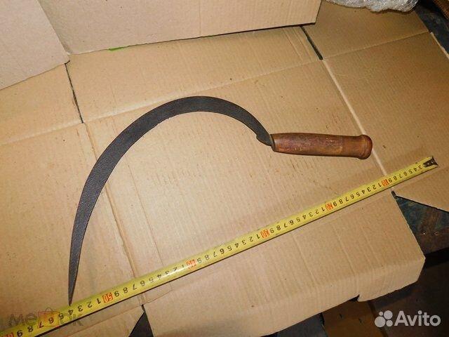 Старинный,иностранный серп,деревенский инструмент  89065103360 купить 1