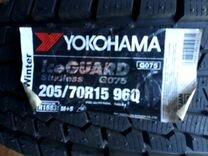 Yokohama ice guard g075. 205/70/15. 2шт