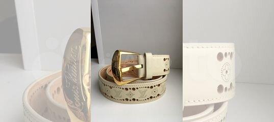 54b3e223e90d Ремень оригинал Louis Vuitton Phoenix белый perfor купить в Москве на Avito  — Объявления на сайте Авито