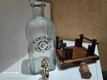 Бутылка с краном на подставке