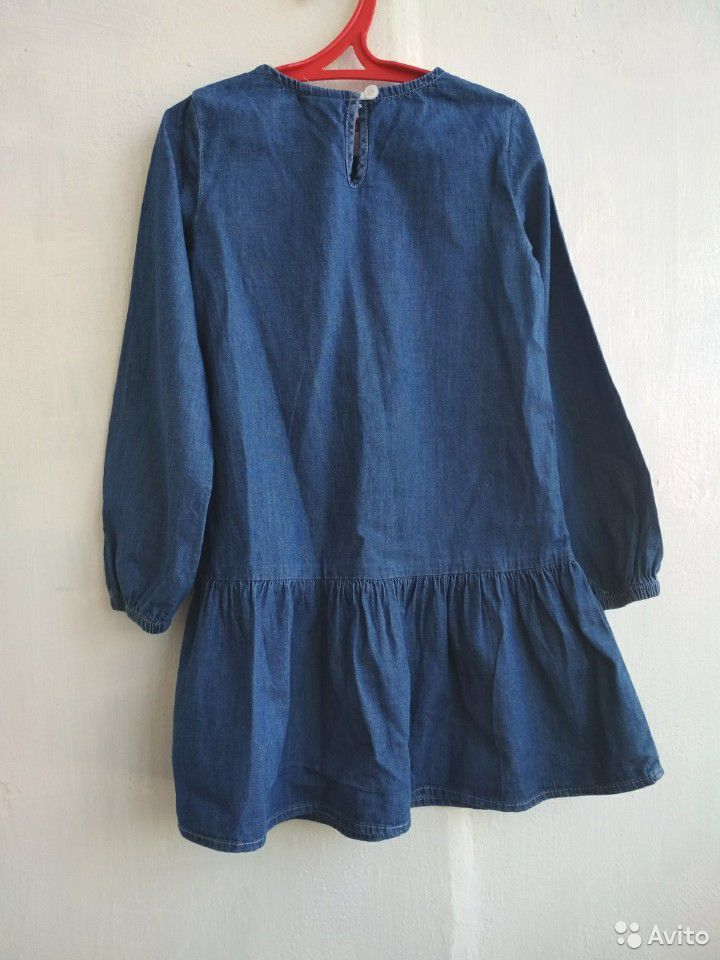 Платье тонкое джинсовое на 3-5 лет