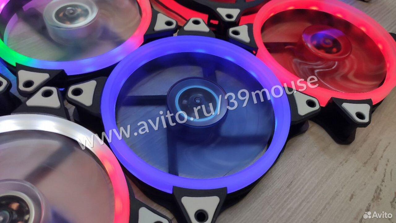Кулер вентилятор с подсветкой RGB новые 120мм  89216108390 купить 3