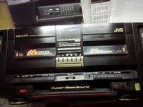 Музыкальный двух каcсетный центр.JVC. PC-V77U