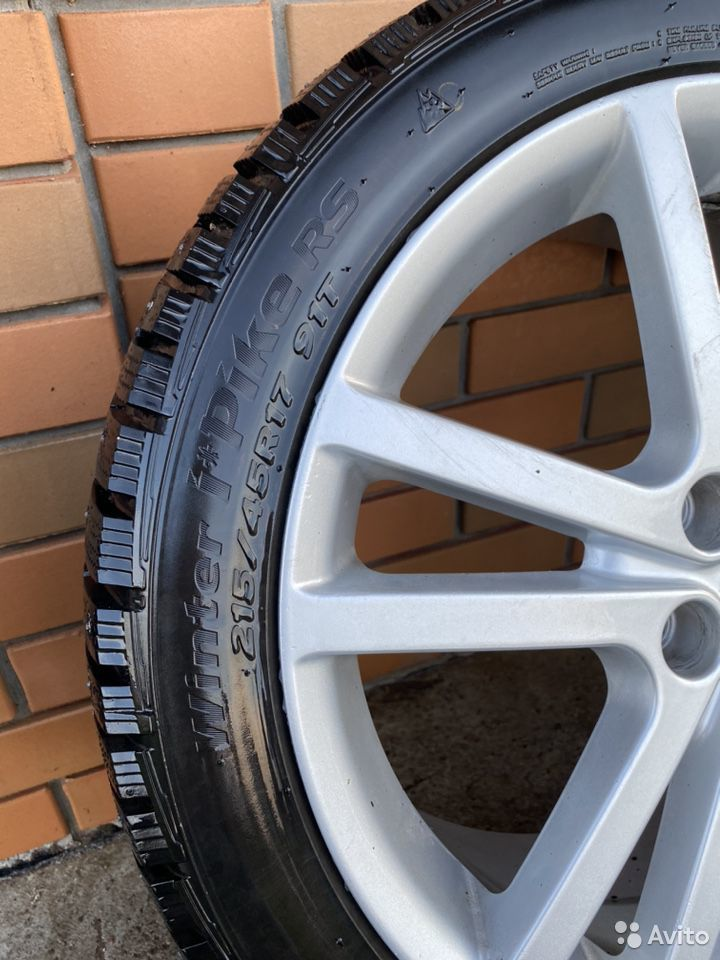 Комплект новых зимних колес на Subaru Sti  89956815638 купить 3