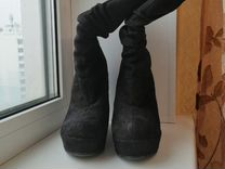 Сапоги на танкетке — Одежда, обувь, аксессуары в Новосибирске