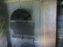 Железная печь в баню