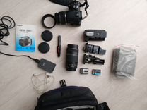 Зеркальный фотоаппарат Canon 350D+ комплект