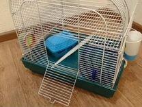 Клетка для грызуна (2 этажа) с домиком