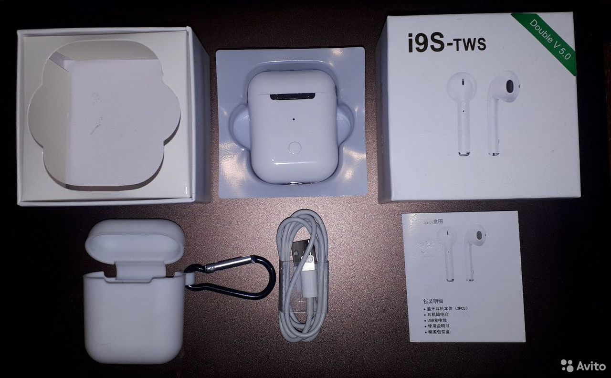 Беспроводные наушники аналог AirPods i9S-TWS новые