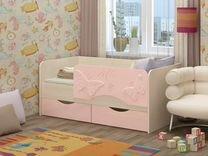 Детская кровать Бабочки 3D