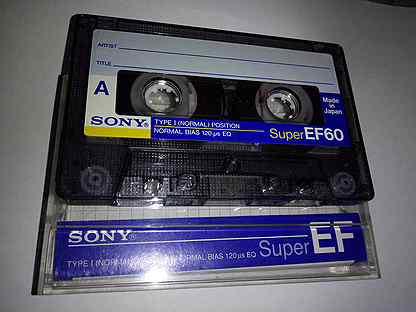 Кассета Sony Super EF60