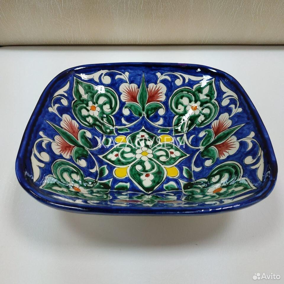 Салатник Риштан синий