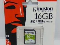 Сdhc карта памяти Kingston 16 гб